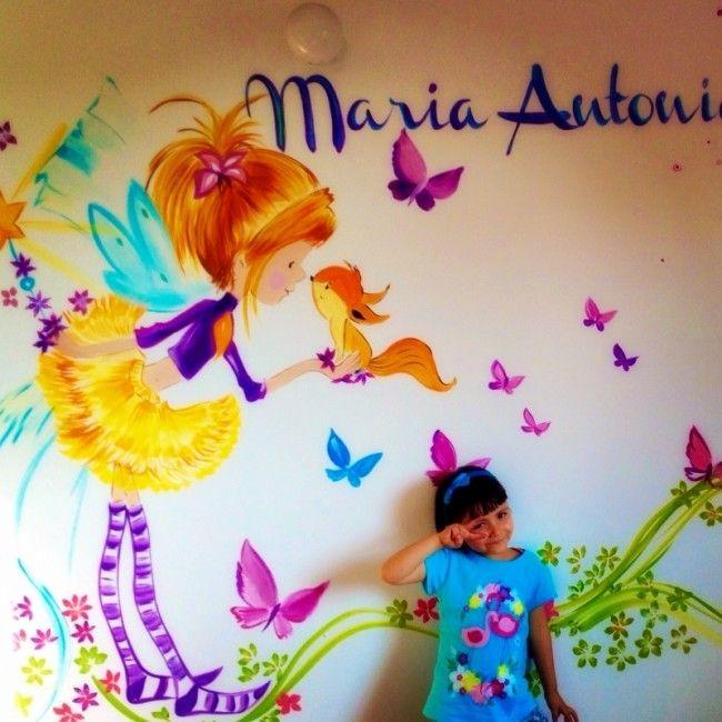 60 nombres de beb plasmados en hermosos murales infantiles habitaciones de bebes bebe - Murales para ninas ...