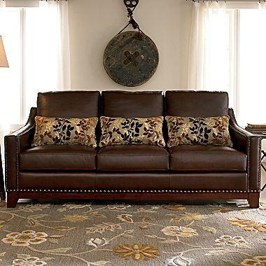 Linden Street Hanover Leather Sofa Jcpenney Leather Sofa Sofa Living Room Sofa