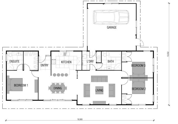BUT would shift garage or lengthen it? House Plans New Zealand ...