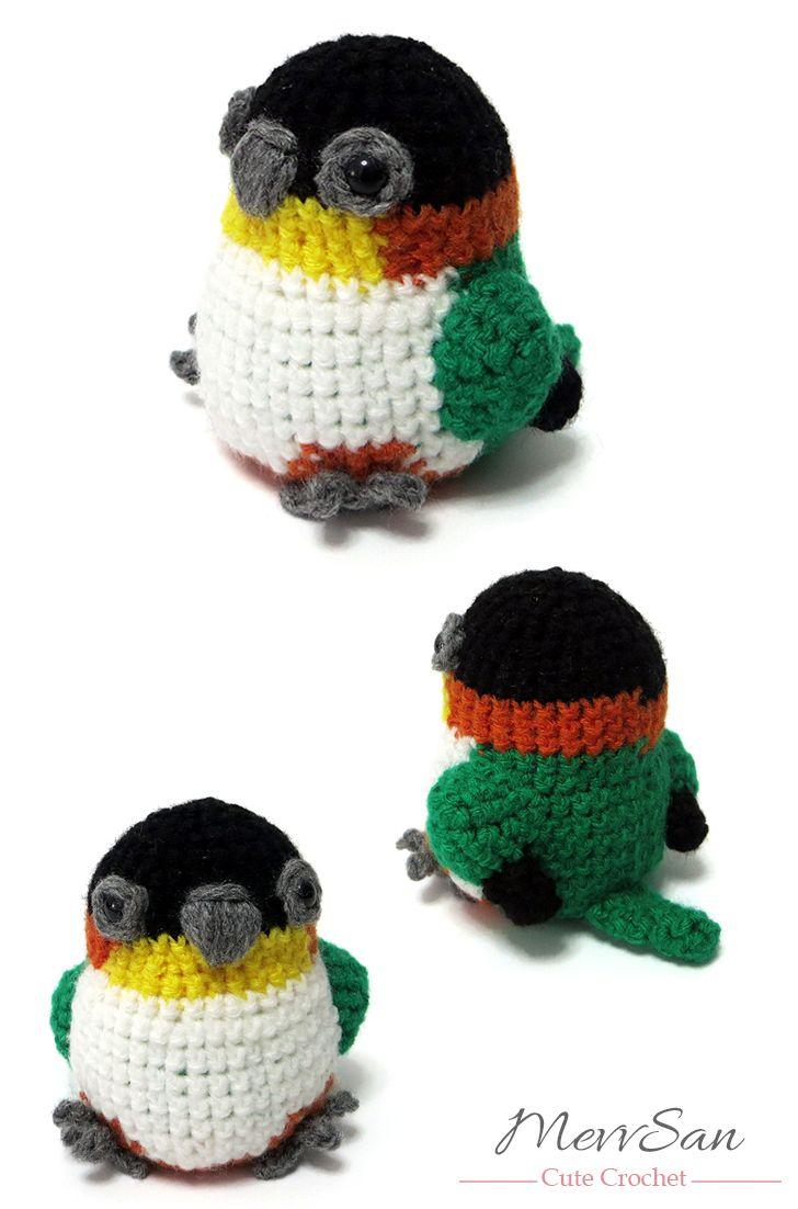Amigurumi Caique Crochet Pattern | MevvSan | Pájaro | Pinterest ...