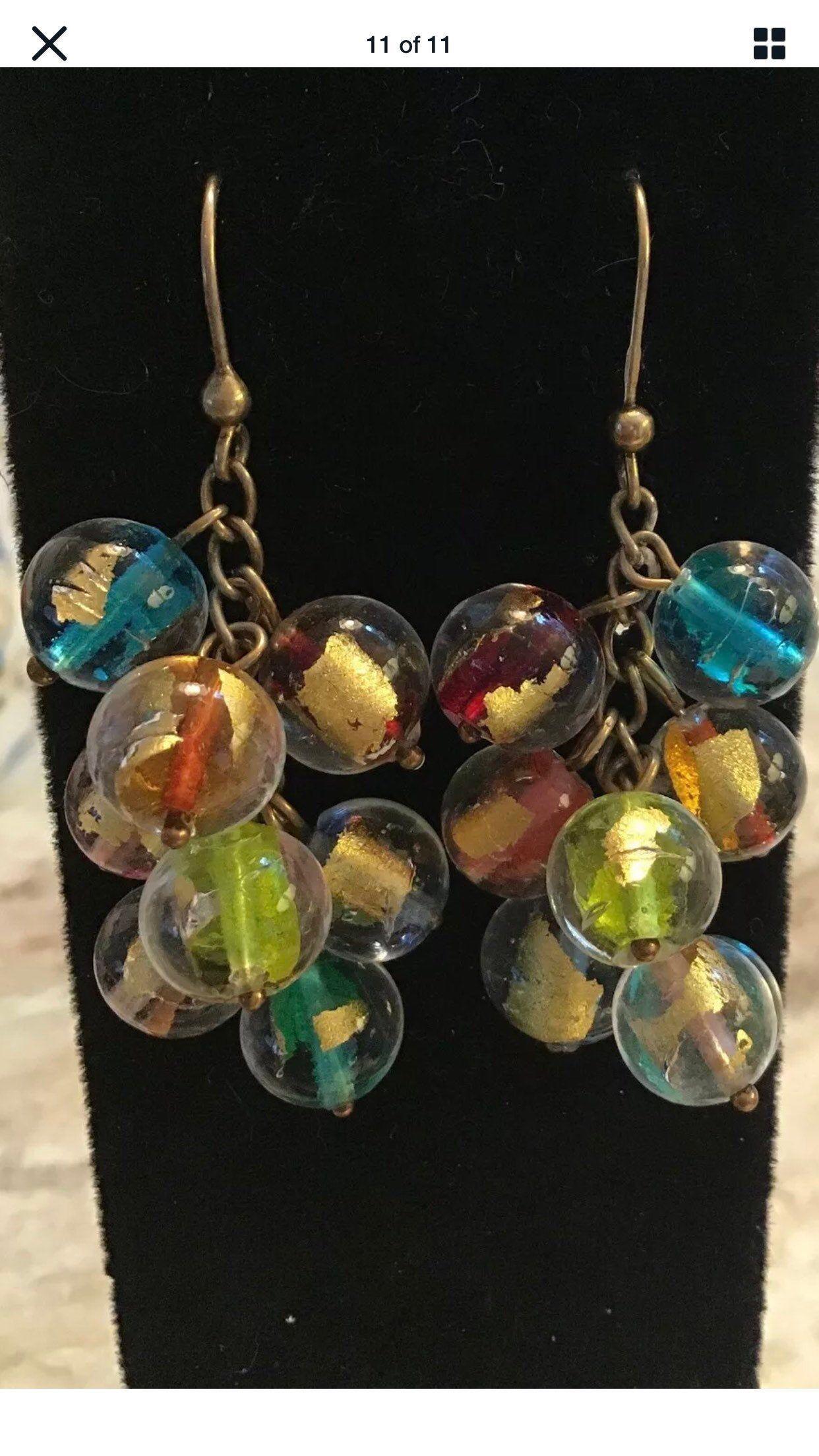 Murano Glass earrings,Fairy earrings,Blue Earrings,Sweet small earring