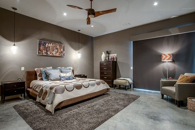 schlafzimmer-streichen-ideen-taupe-beleuchtung-konzepte | ห้องนอน ...