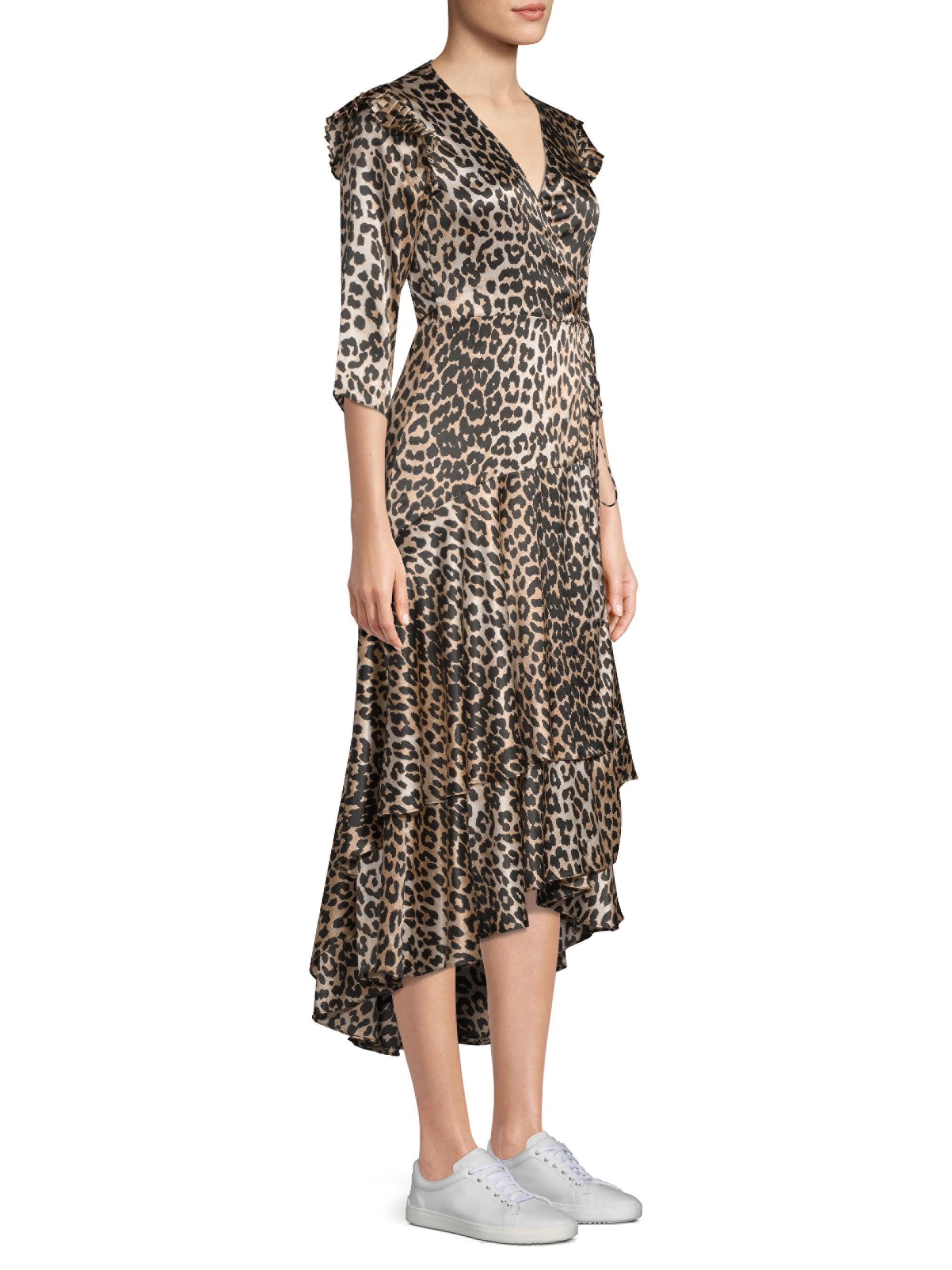 66d9390abf8 Ganni Calla Leopard Silk Dress - 40 (8) in 2019 | Products | Silk ...