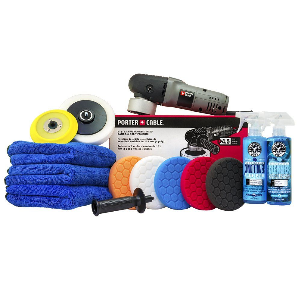 Chemical Guys Buf Porter Cable 7424xp Detailing Complete Detailing Kit With Pads Backing Plate And Accessories 13 It In 2020 Chemical Guys Porter Cable Grandpa Gifts