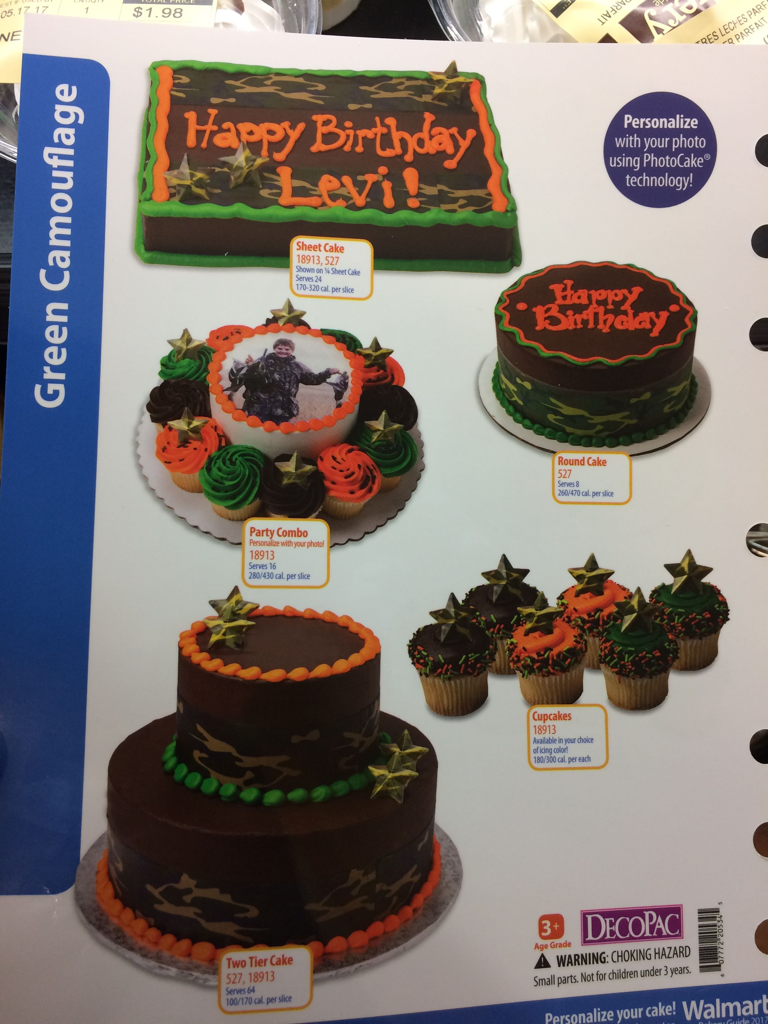 New Walmart Camo Cake Order 1 2 Sheet For 28 Instead Of