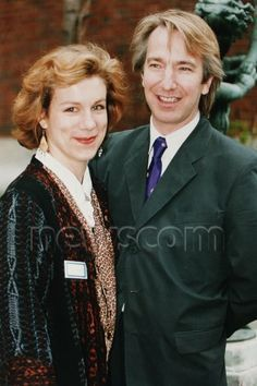 Alan Rickman and Juliet Stevenson - at a photo-call for BAFTA nominees in 1992.
