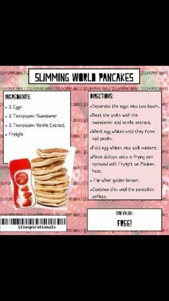 Slimming world pancakes :) | Food | Pinterest | Slimming ...