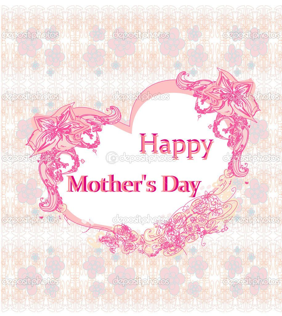 Happy Mothers Day Lovely Greeting Card Stock Vector