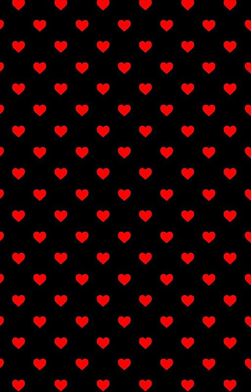 Red Polka Dot Hearts On Black Background By Honorandobey Pink Wallpaper Iphone Heart Iphone Wallpaper Pink Wallpaper Backgrounds