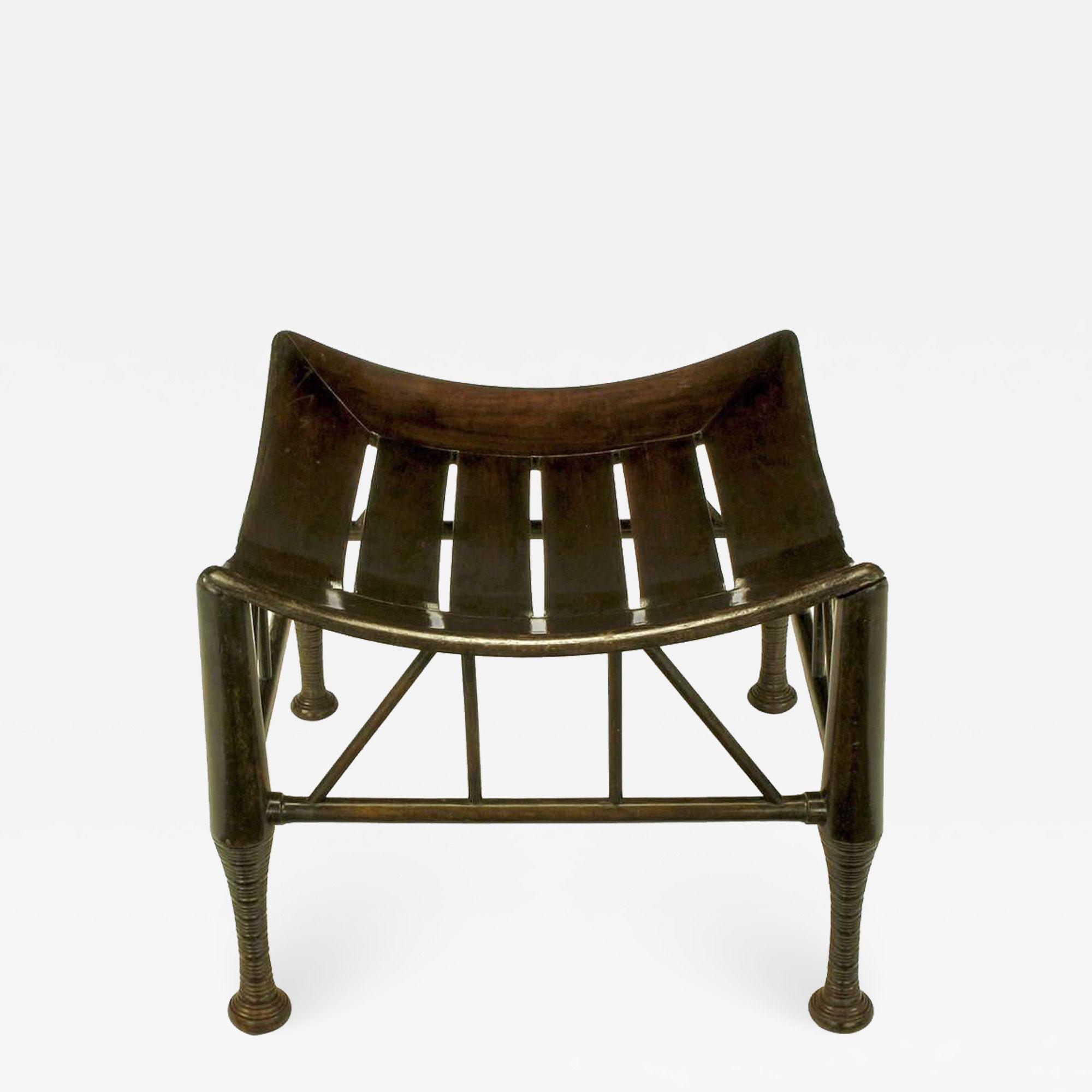 Pleasing Dark Oak Egyptian Revival Thebes Stool Circa 1900 Liberty Dailytribune Chair Design For Home Dailytribuneorg