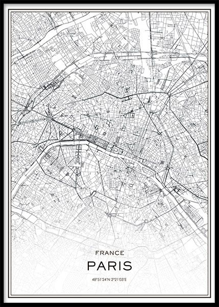 Paris Juliste Desenio Poster Noir Et Blanc Tableau Noir Et Blanc