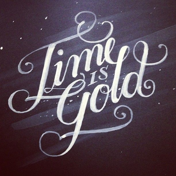 Time Is Gold Typography Calligraphy Lettering Hipster Poster Lettering Poster Fonts