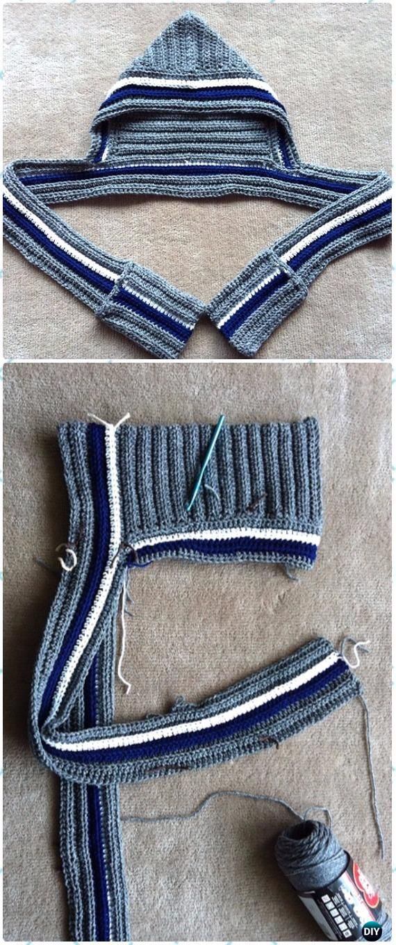 Crochet Stretchy Scoodie with Pockets Free Pattern & Video - Croche ...