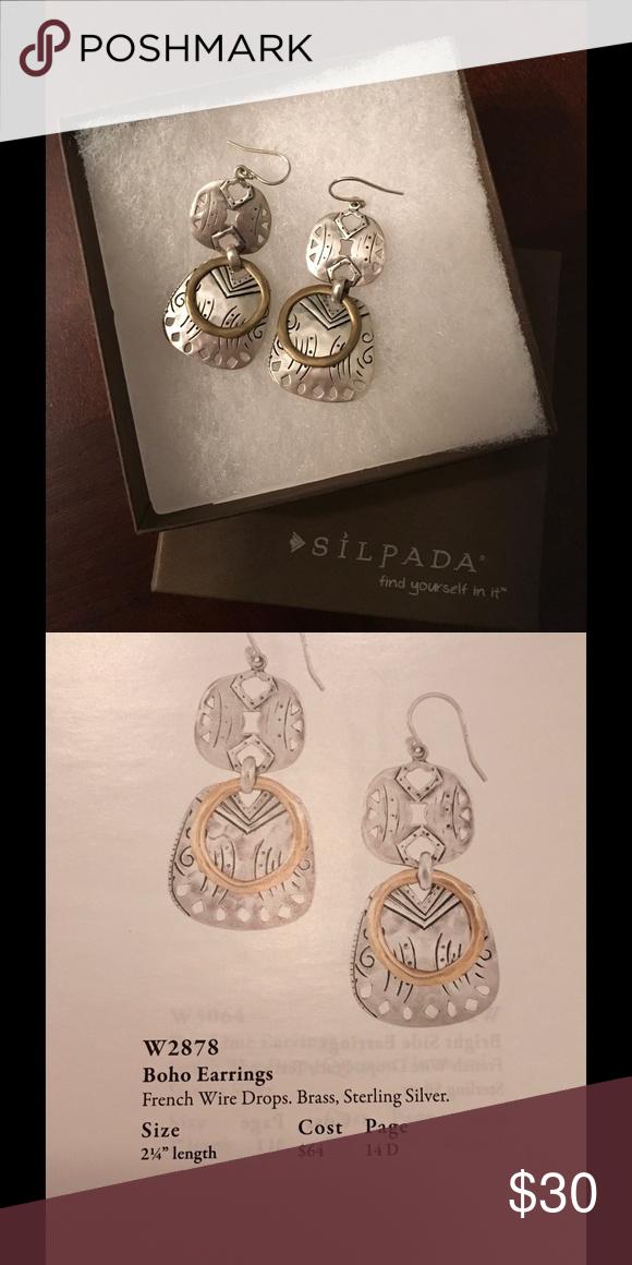 Silpada earrings W2878 Boho earrings Silpada Jewelry Earrings