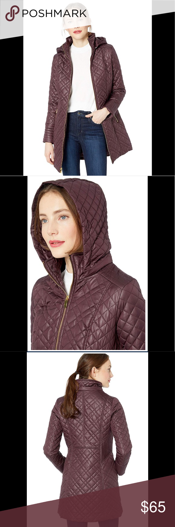 2d179dc6642 Outdoor Recreation Outdoor Clothing Via Spiga Womens Center Zip Diamond  Quilt