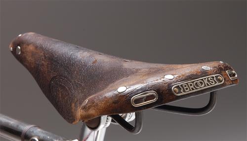 Original Brooks Saddle 1947 Old Bicycle Vintage Bicycles Bicycle