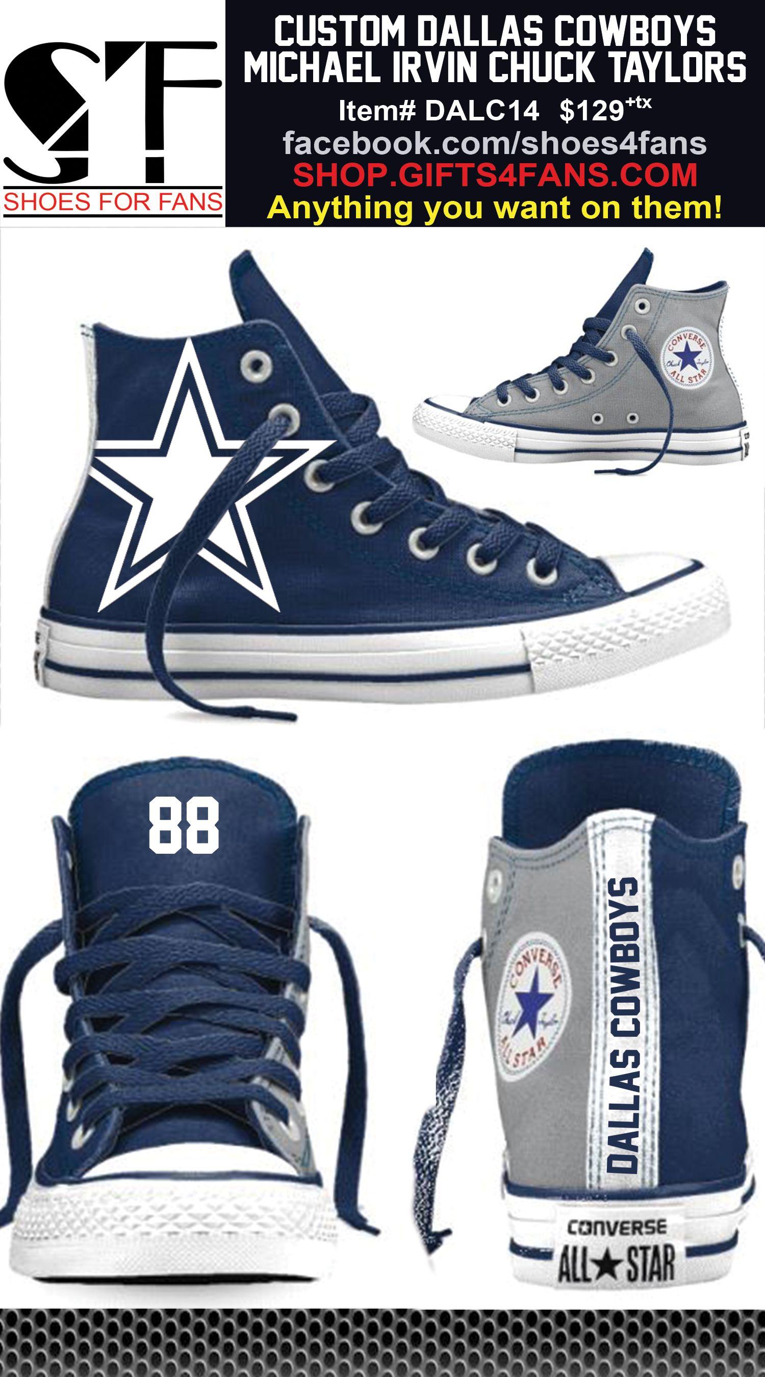 Custom Dallas Cowboys Dez Bryant 88 Converse Shoes Order at shop