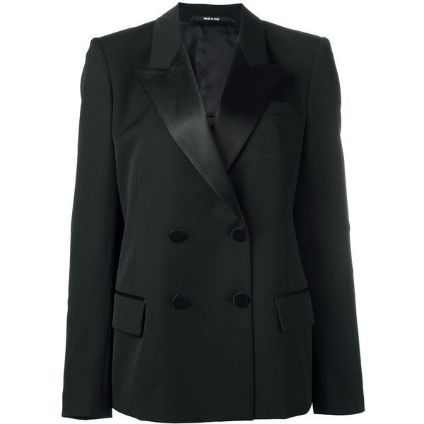 Maison Margiela satin lapel blazer ($1,995) ❤ liked on Polyvore ...