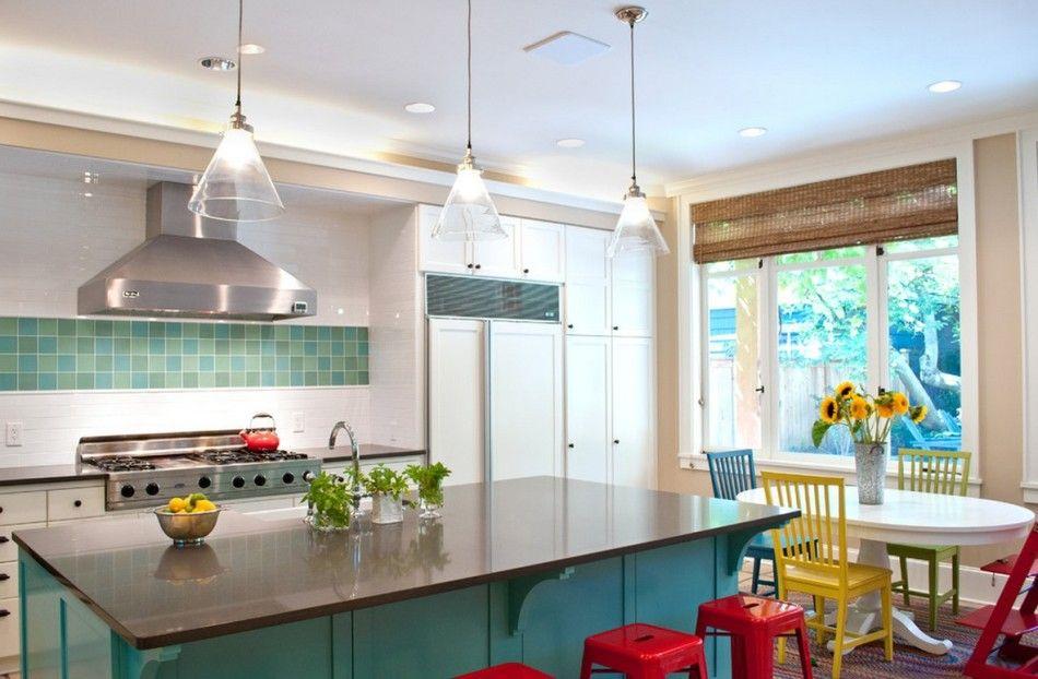 kitchen colorful ideas varied palette (kitchen, home, house, decor, design, interior)