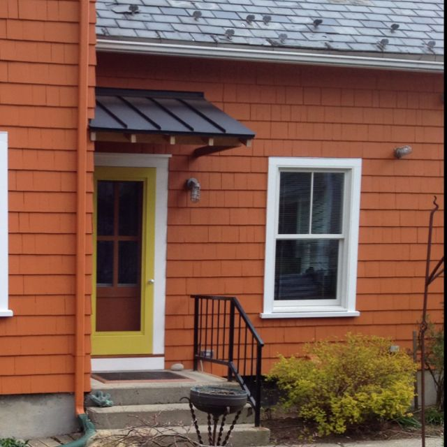 Standing Seam Metal Roof Portico I Need This Over My Garage Access Door Farmhouse Patio Doors Door Awnings Farmhouse Patio
