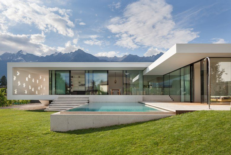 La casa t una casa unifamiliare situata a merano for Siti design interni