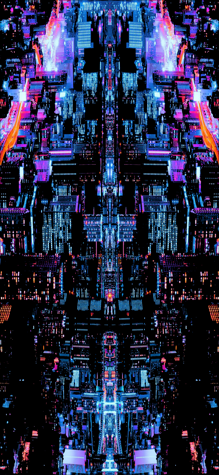 Colorful City Wallpaper Iphone Android Glitch Wallpaper City Wallpaper City Art