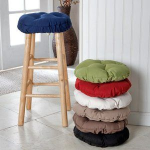 Deauville 13 In Round Backless Bar Stool Seat Cushion Walmart Com Bar Stool Cushions Backless Bar Stools Round Bar Stools