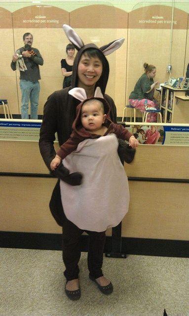 644c737a042 Kangaroo and joey costume. Fleece and a Baby Bjorn.