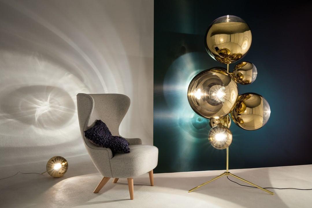 Melt Floor And Table Lamp Replica Mooielight In 2020 Floor And Table Lamps Tripod Floor Lamps Mirror Ball