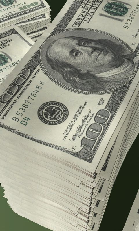 480x800 Wallpaper money, pack, stack, dollars