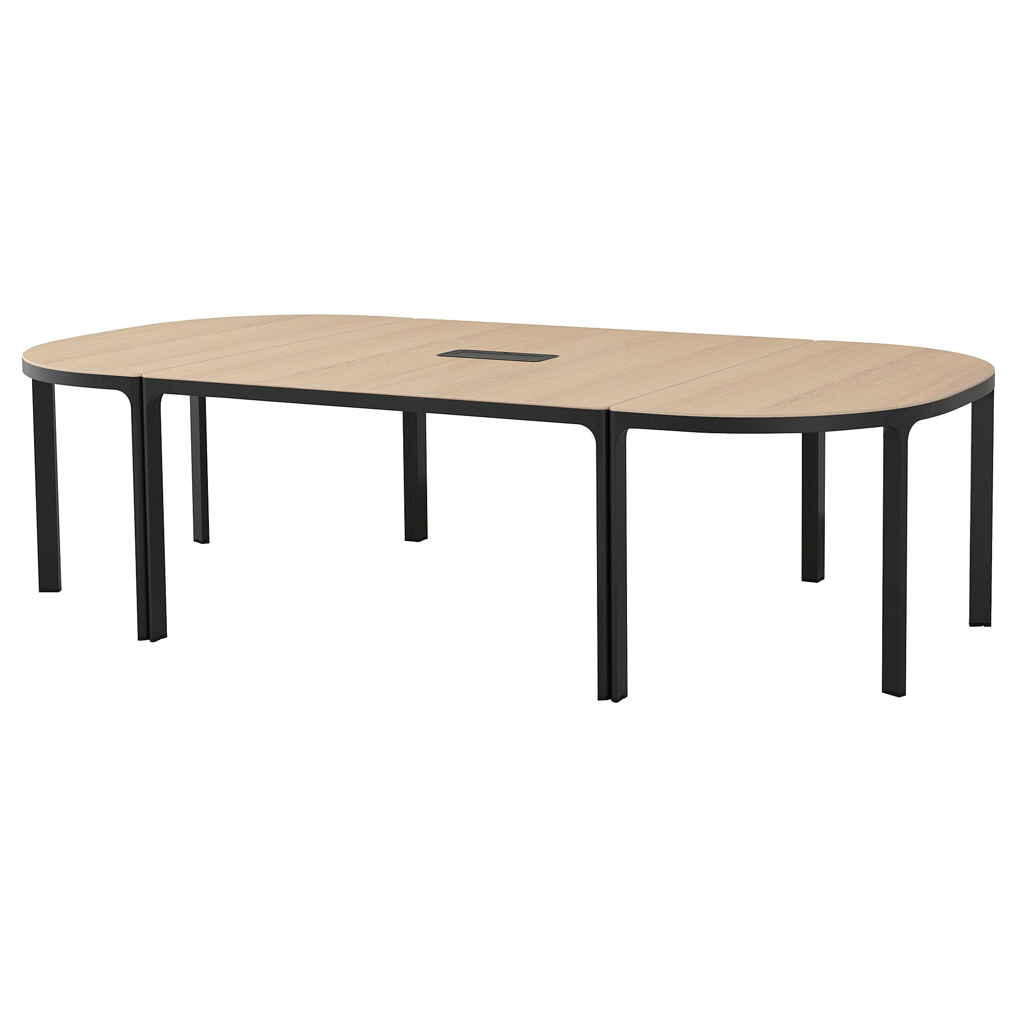 Ikea Bekant Conference Table White Stained Oak Veneer Black At Home Furniture Store Ikea Conference Table [ 2000 x 2000 Pixel ]