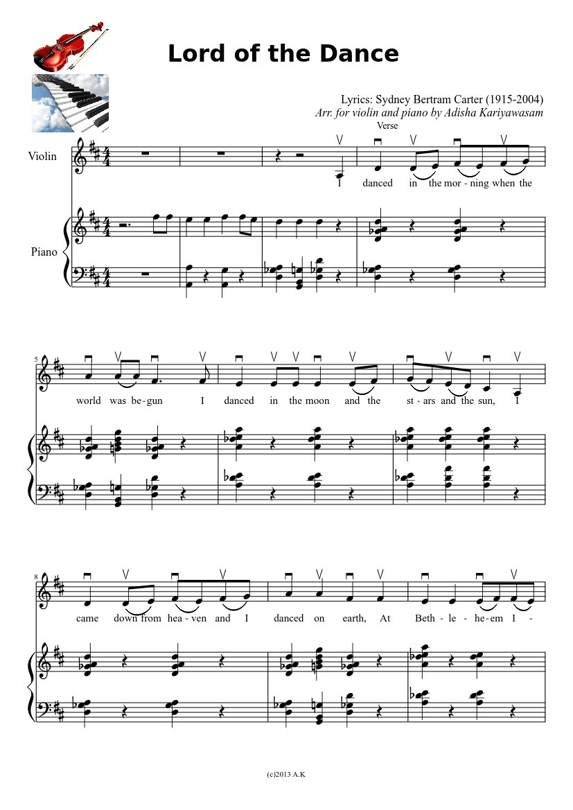 Lord Of The Dance Violin And Piano Sheet Music Download Free In Pdf Or Midi Musescore Com In 2020 Fiddle Music Lord Of The Dance Praise Songs