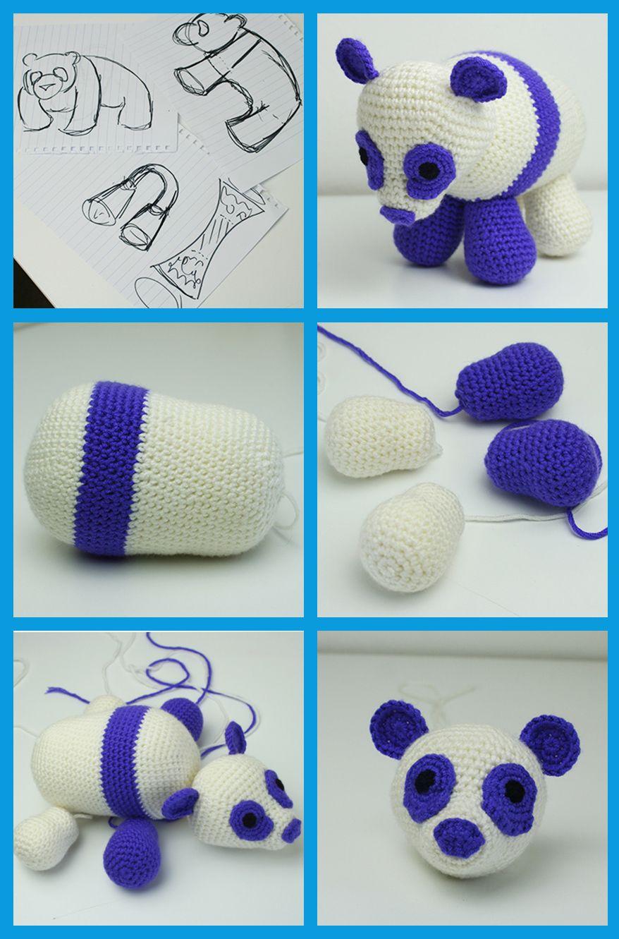 Crochet Panda Bear Pattern | Pinterest | Crochet panda, Free crochet ...