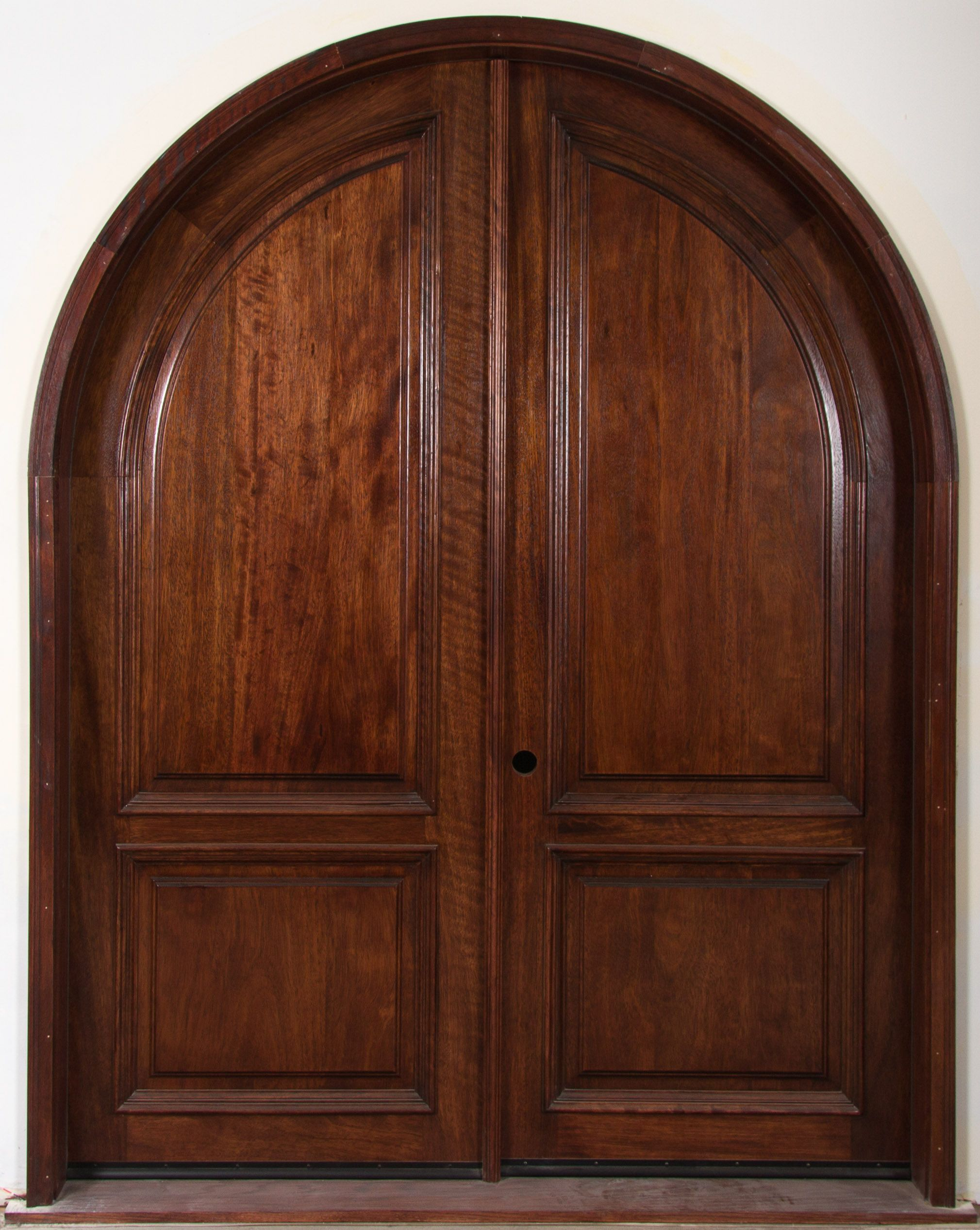 Arched interior doors full solid wooden arched french for Wooden french doors