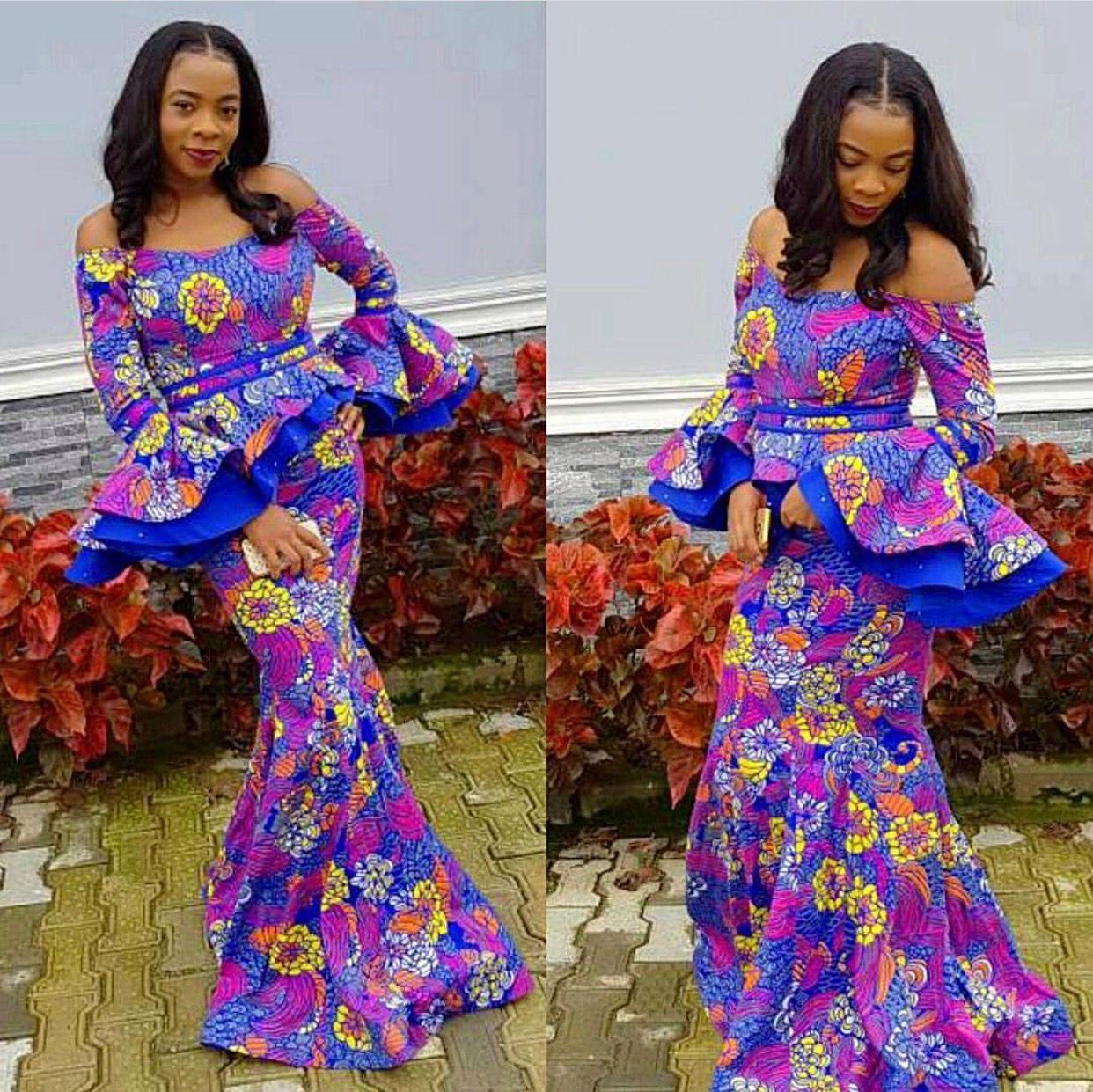 Pin de Bole en robe wax   Pinterest   Ropa africana, Africanos y ...