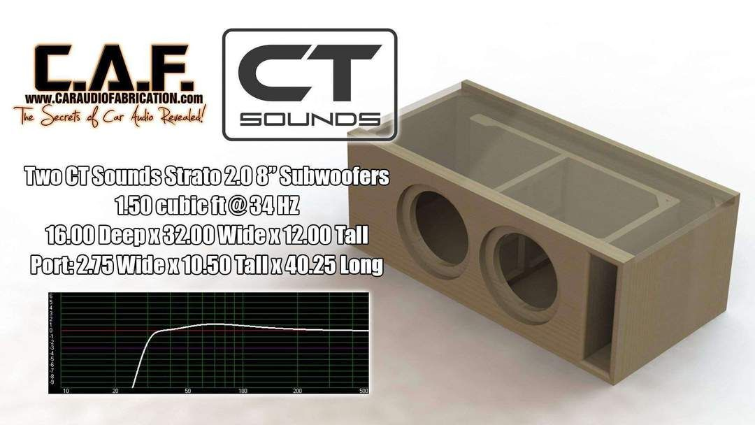 Dual 8 Inch Ported Subwoofer Box Design In 2020 Subwoofer Box Design Subwoofer Box Subwoofer