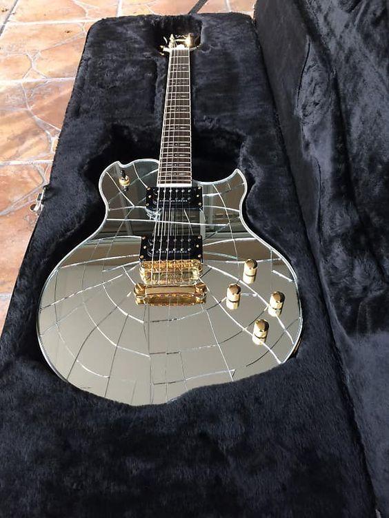 Minarik Lotus Studio Xtreme Cracked Mirror Ball Tone Tail Electric Guitar Ser # 000010 w/Orig Case 🎸 | #Mirror #Guitar #RockNRoll