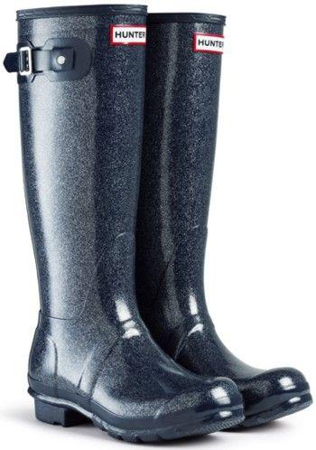 hunter rain boots sparkle