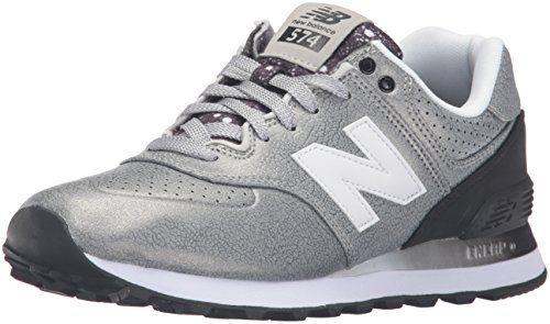 New Balance 574, Zapatillas Deportivas Mujer, Negro (Black/Grey), 37 EU