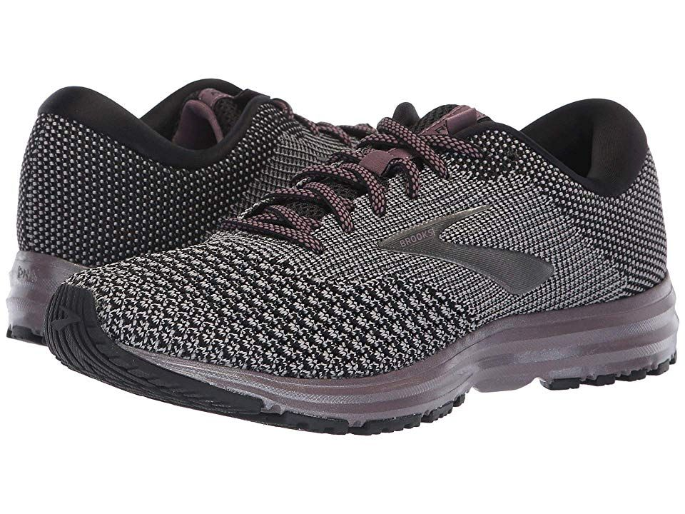 9534b5616de Brooks Revel 2 (Black Grey Arctic Dusk) Women s Running Shoes. The  comfortable and lightweight Revel 2 running shoe has a fresh updated look  and style that ...