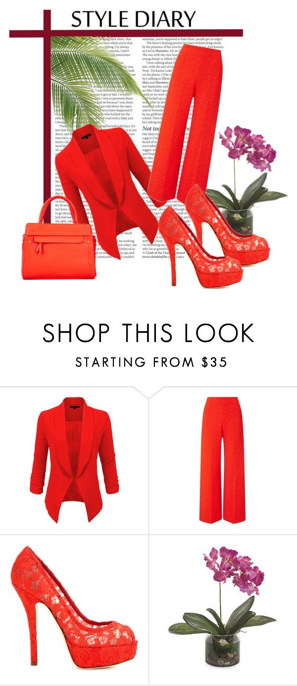 """blood red"" by zlata-82 ❤ liked on Polyvore featuring LE3NO, Roland Mouret, ShoeDazzle, Dolce&Gabbana, ASOS and Frontgate"