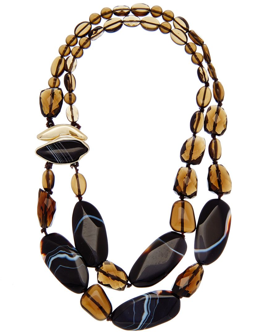 Alexis Bittar 18K Plated Agate & Smoky Quartz Necklace is on Rue. Shop it now.