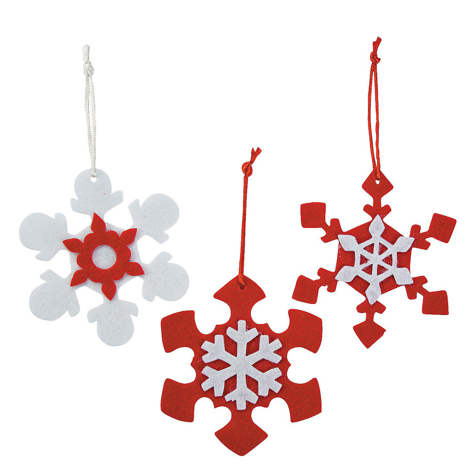 red white snowflake christmas ornament craft kit orientaltradingcom