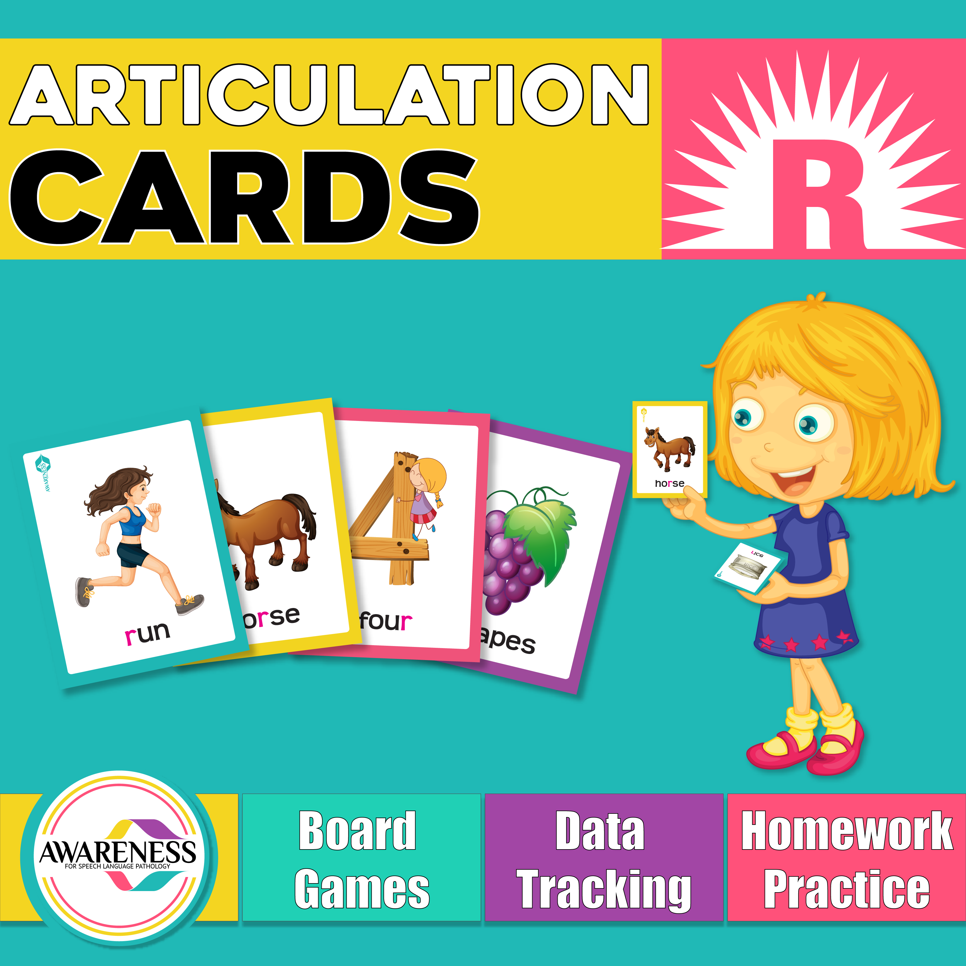 R Articulation Cards And Worksheets For Speech Therapy