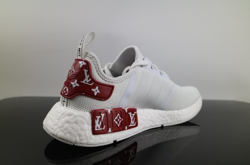 watch 062d5 65449 Real Adidas NMD x LV White Red BV1608 Boost #40-46 | Adidas ...