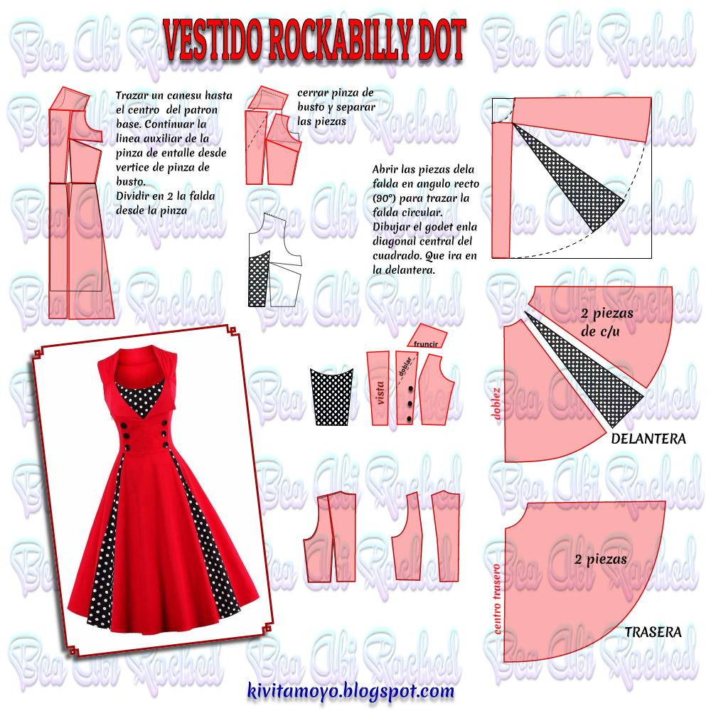 Rocakabilly+dot.PNG (1000×1000) | elbise | Pinterest | Nähen