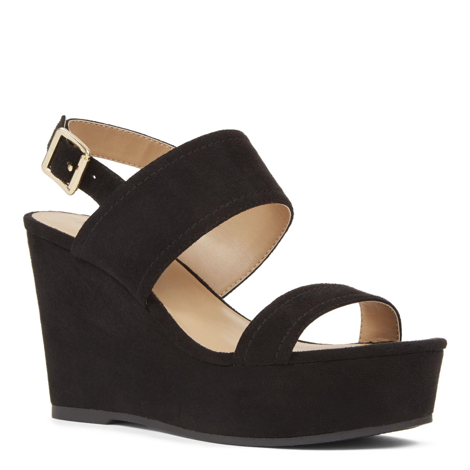 Black sandals nine west - Black Rayna Wedge Sandals Nine West