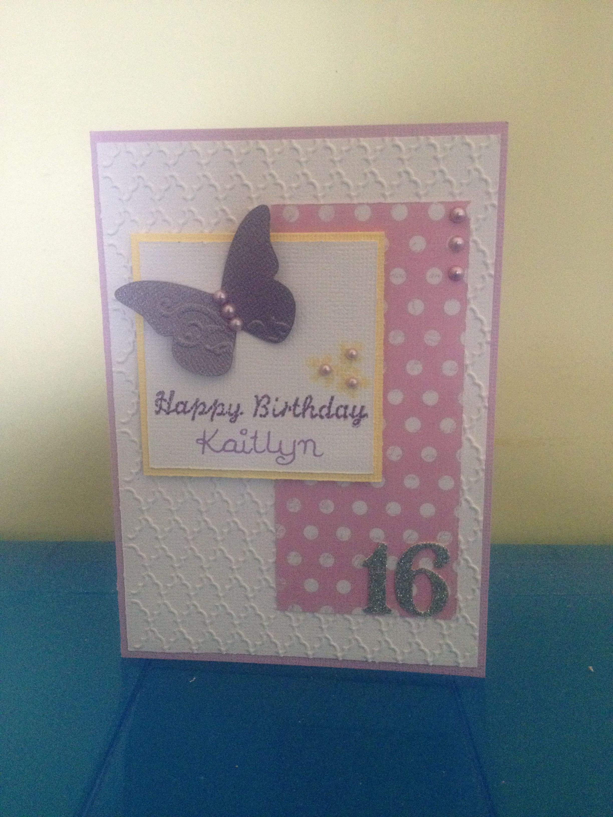 16 Year Old Girls Birthday Card