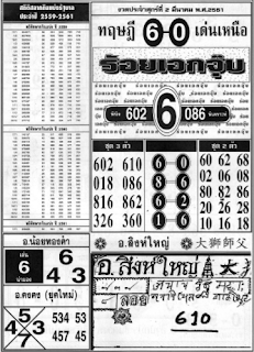 Thailand lottery latest 4pc magazine paper for 1 5 2018 thanks for
