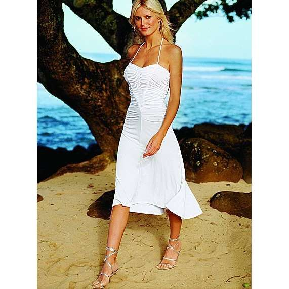 White Halter Summer Dress